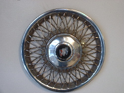 "89-91 Lasabre 14"" wire spoke hubcaps"
