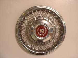 Cadillac wire spoke hubcaps